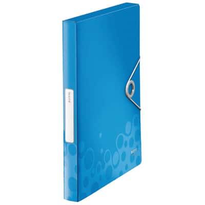 Boite de classement en polypropylene dos 30mm bleu