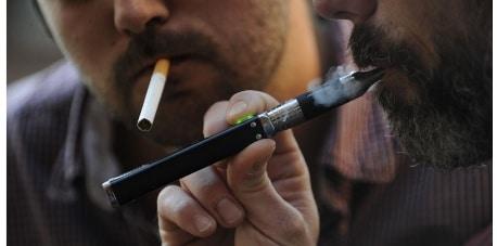 Fumeur e-cigarette