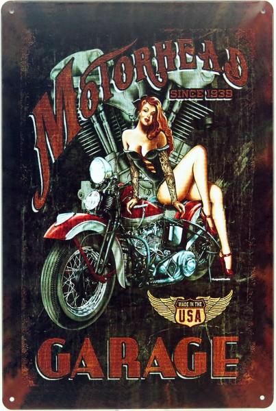 Plaque métal moto