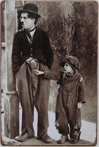 Plaque métal Charlie Chaplin