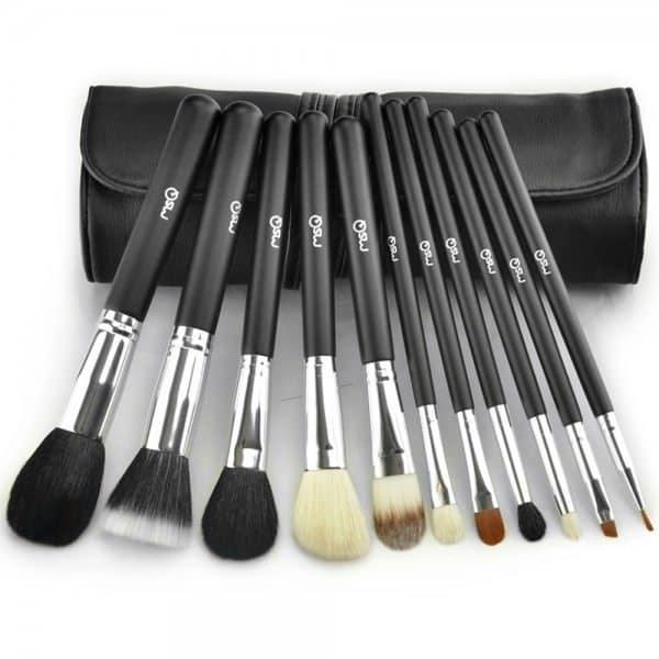 Kit professionnel 11 pinceaux maquillage avec pochette noire