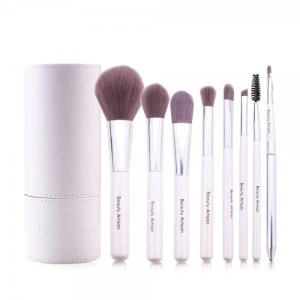Lot 8 pinceaux maquillage avec pot de rangement