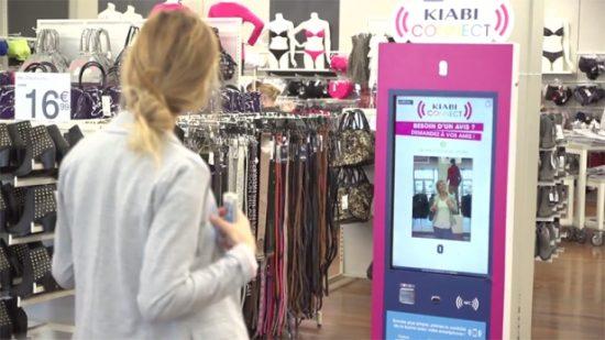 borne interactive Prosign / Kiabi